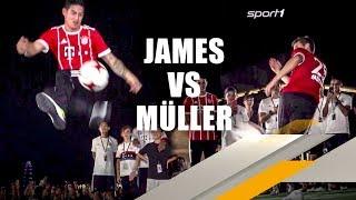 FC Bayern: Thomas Müller schlägt James beim Freestyle-Battle | SPORT1