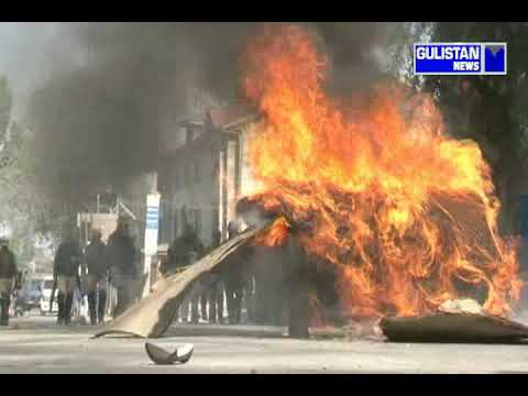 Clashes erupted near encounter site sootho wanbal nowgam Srinagar