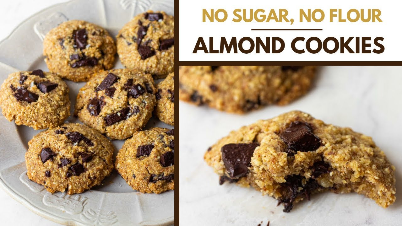 NO SUGAR, NO FLOUR CHOCOLATE CHIP COOKIES| HEALTHY LOW CARB KETO FRIENDLY COOKIES| SUGAR FREE COOKIE