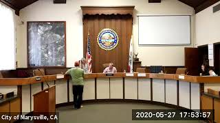 City of Marysville Planning Commission Regular Meeting - May 27, 2020