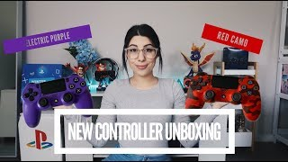 NEW PS4 DUALSHOCK 4 UNBOXING | ELECTRIC PURPLE AND RED CAMO | Liessshy