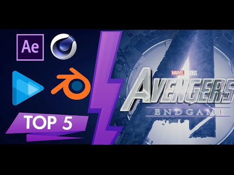 Best 5 Marvel Free Intro Template 2D+3D Blender C4D AE SV