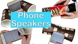 6 phone speaker idęas DIY