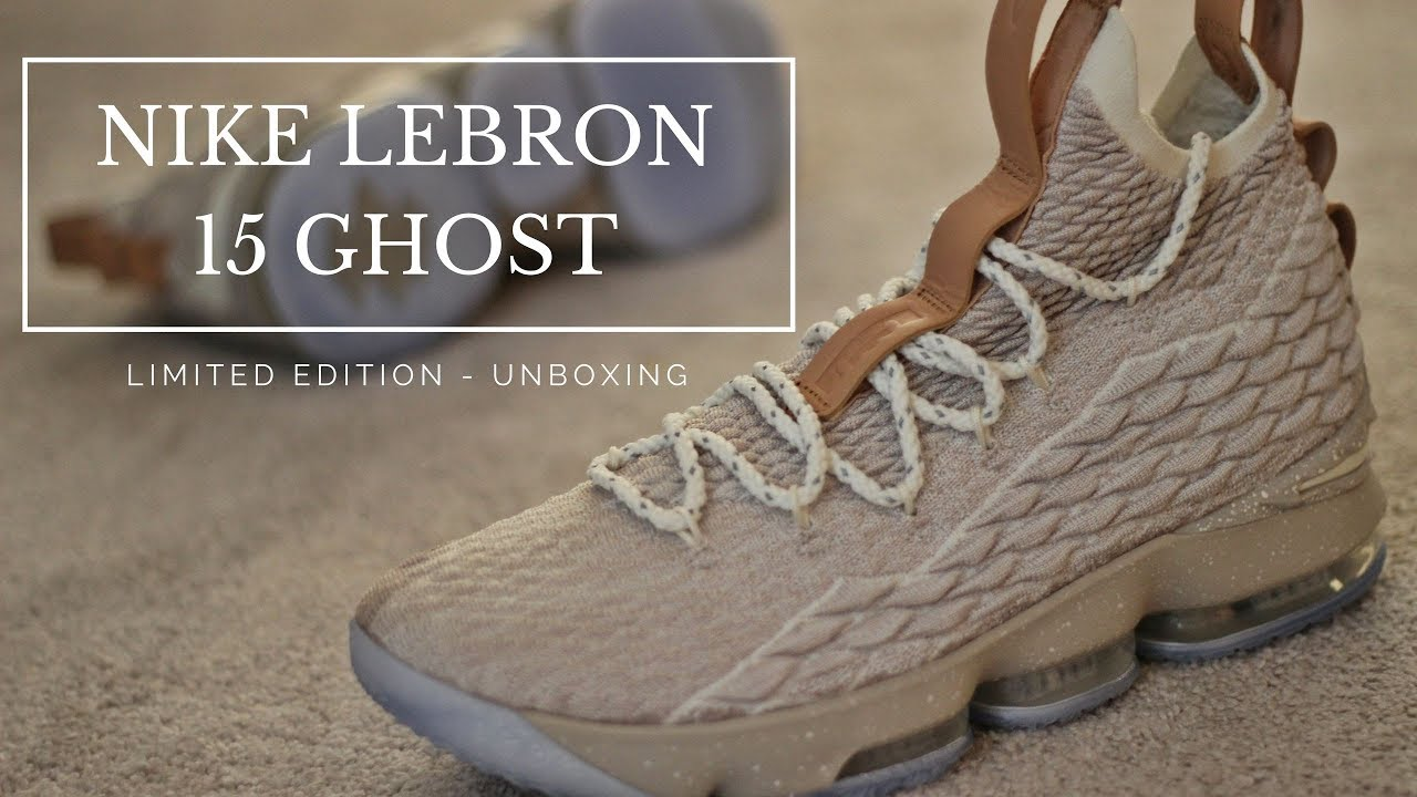 buy online 375b9 83551 Unboxing Nike Lebron 15 Ghost Limited Edition