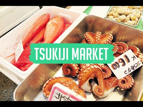 TOKYO VLOG: Tsukiji Fish Market & Sakura Blossoming