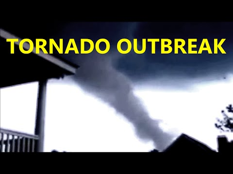 Tornadoes Caught On Tape! Tornado Outbreak: Springfield, MA