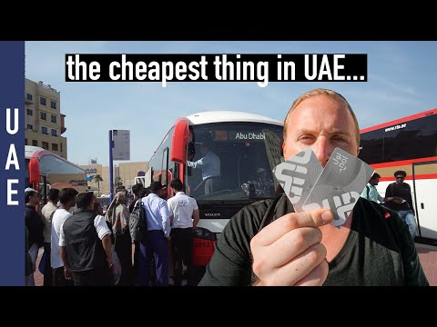 How To travel in UAE | Dubai to Abu Dhabi by Bus (using the NOL card)
