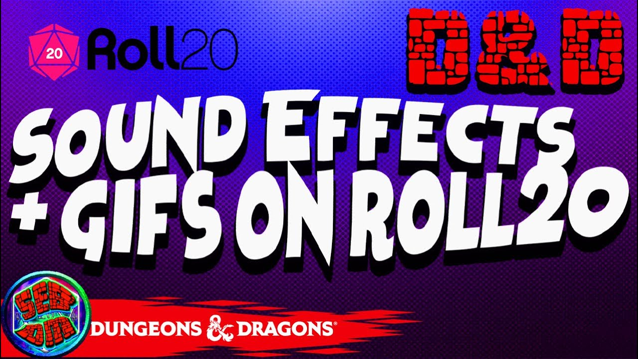 Roll20- How to make sound effects and gifs when attacking  (Also ammo  tracking)