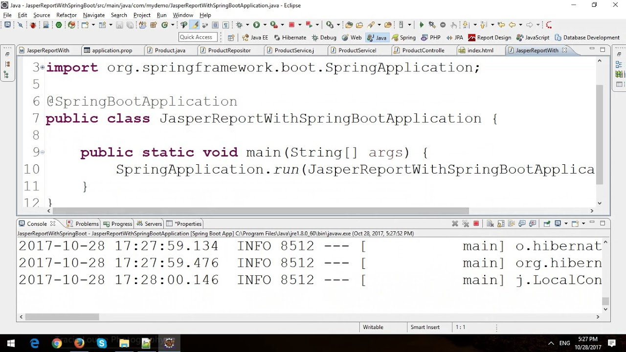 Jasper Reports with Spring Boot