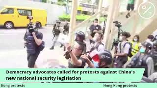 Hong Kong Protesters March Against China's New National Security Law