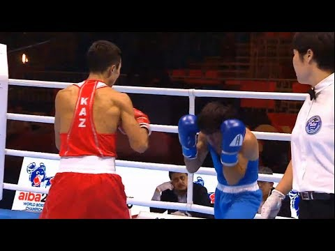Quarterfinals (52kg) BIBOSSINOV Saken (KAZ) Vs HOVHANNISYAN Artur (ARM) /AIBA World 2019