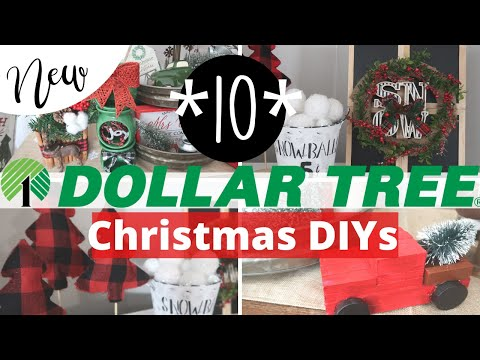 10 Dollar Tree Christmas DIYS 2019