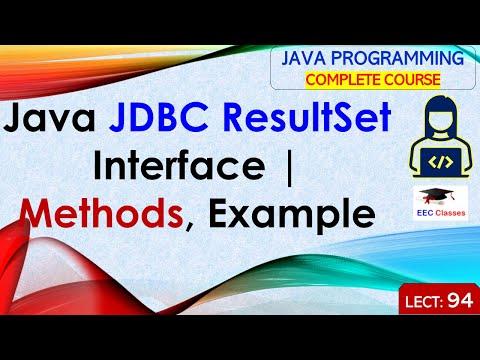 Java JDBC ResultSet Interface - Java JDBC Tutorial For Beginners In Hindi And English