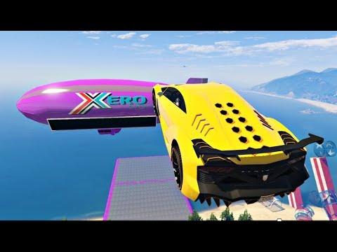 GTA 5 MEGA RAMP Stunt Jump Compilation #3 (Grand Theft Auto V Mods Gameplay Moments)