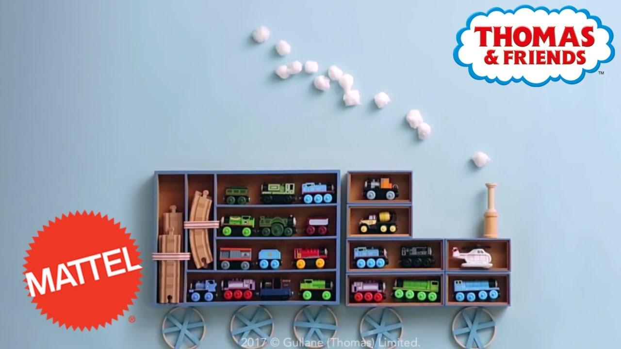 Diy Thomas Train Shelves Room Decor For Kids Thomas Friends Mattel
