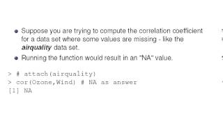 R Computing : Correlation with Missing Values
