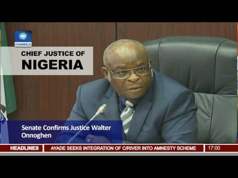 Senate Confirms Justice Walter Onnoghen As Chief Justice Of Nigeria