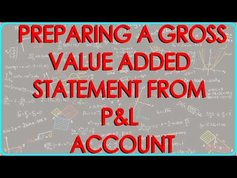 CA Final | Preparing a Gross Value Added Statement from P&L Account