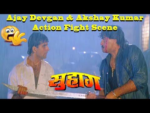 Ajay Devgan & Akshay Kumar Action Fight Scene In Suhaag Action Drama Movie