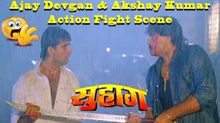 Download Video Ajay Devgan & Akshay Kumar Action Fight Scene from Suhaag Action Drama Movie MP3 3GP MP4
