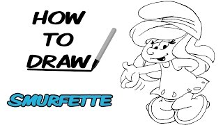 How To Draw Smurfette - Cartoons | Speed Drawing