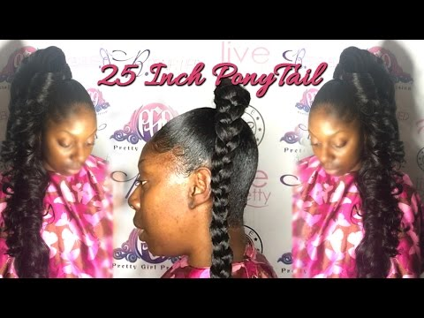 How to do a 25 Inch PonyTail With 10 Inch Hair