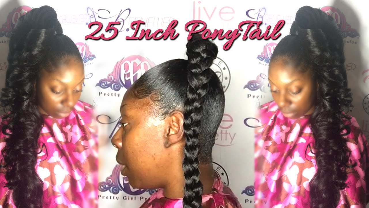 how to do a 25 inch ponytail with 10 inch hair| princess pony