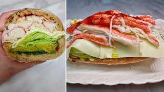 [1분완성] 크래미 샌드위치 만들기 Make crab …