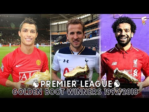 All Premier League Golden Boot Winners ⚽ 1992 - 2018 ⚽ Footchampion