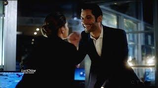 Lucifer 3x03 Lucifer Touches Chloe's Nose -Chloe Phone calls Maze Season 3 Episode 3 S03E03