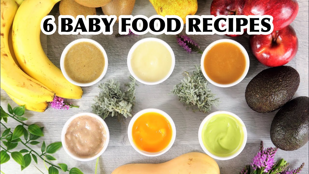 6 BABY FOOD RECIPES FOR 6+ 7+ 8+ MONTHS BABY | HOMEMADE ...