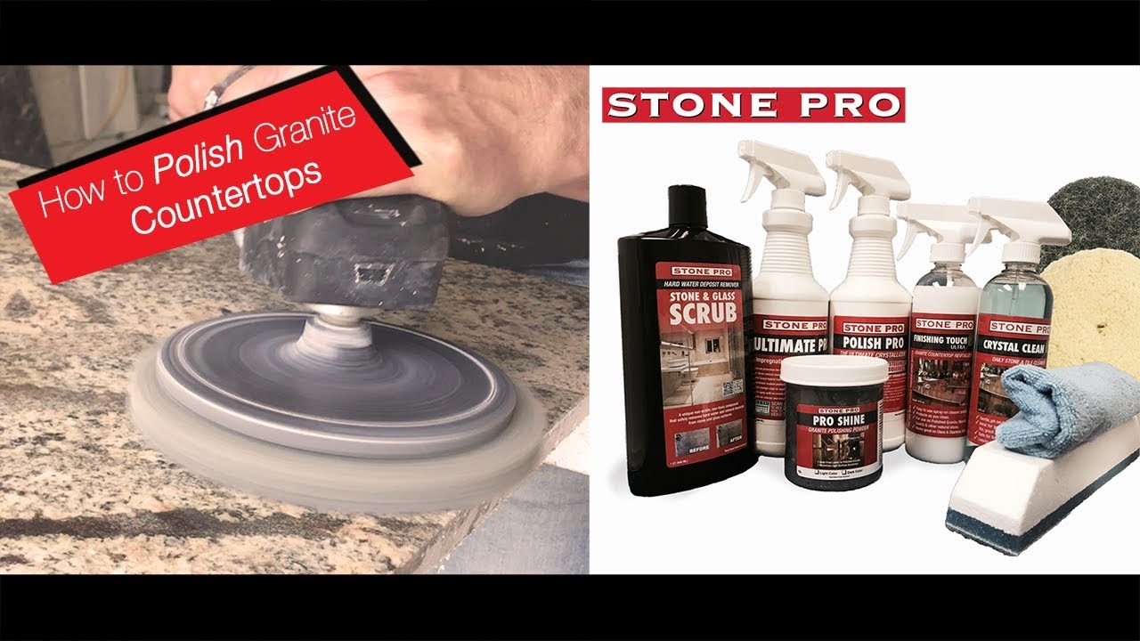 Stone Pro How To Polish Granite Countertops Youtube