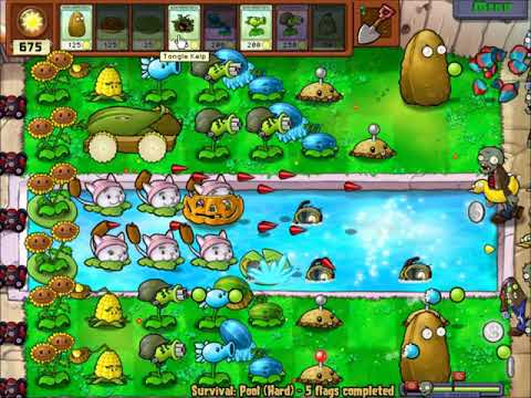 [Plants VS Zombies PC] Survival(Pool) Hard