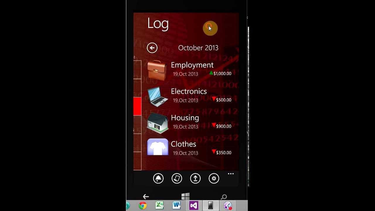 financial diary expense tracker app for windows phone 8 youtube