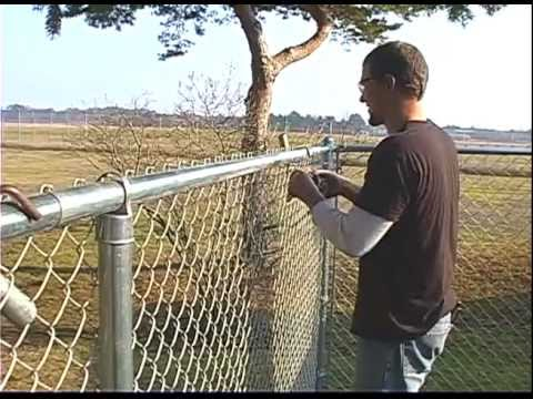 Self Locking Bands Dress Up Small Chain Link Fence Job