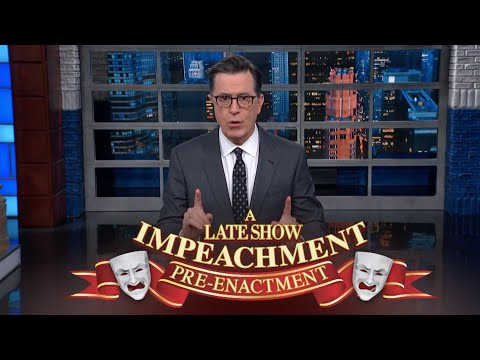 A Late Show Impeachment Pre-Enactment