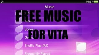 Download How to get free music for Ps Vita [HD]