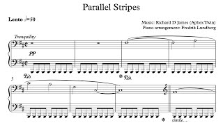 Aphex Twin - Parallel stripes (Piano Cover with Sheet Music) Resimi
