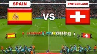 Spain vs Switzerland | International Friendlies | PES 2018 PC Gameplay