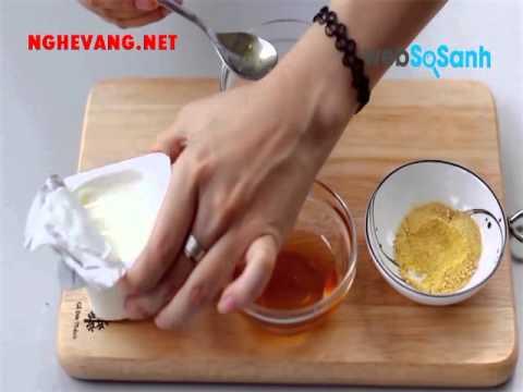 Mặt nạ dưỡng da từ sữa chua, mật ong và tinh bột nghệ
