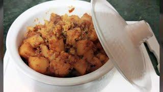 Aloo Gobi Recipe-Simple and easy aloo Gobhi for Lunch Box -Cauliflower and potato stir fry-Aloo Gobi