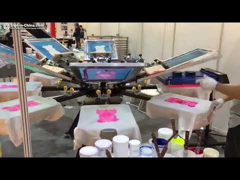 The Operation Video For Screen Printing Machine & Automatic IR Flash Dryer