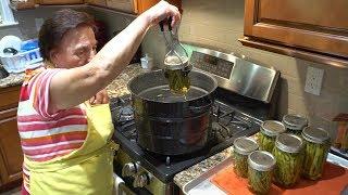 Italian Grandma Makes Pickled & Canned String Beans (Green Beans)