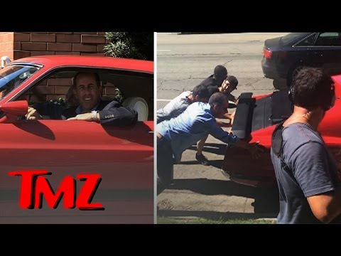 """Jerry Seinfeld Filming """"Comedians In Cars Getting Coffee"""" 
