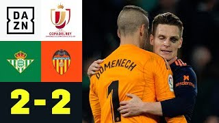 Last-Minute-Remis dank Kevin Gameiro: Real Betis - FC Valencia 2:2 | Copa del Rey | DAZN Highlights