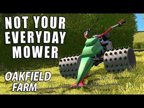 NOT YOUR EVERYDAY MOWER | Farming Simulator 17 | Oakfield Farm - Episode 41