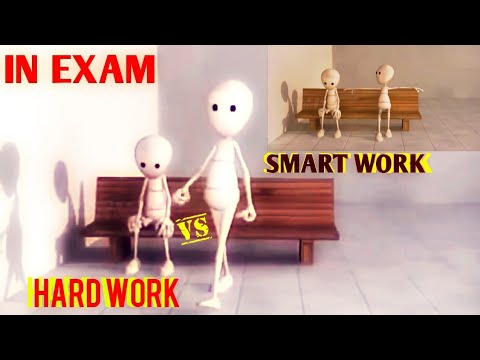 EXAM RESULTS FUNNY VIDEO | SMART WORK VS HARD WORK | FUNNY WHATSAPP STATUS | ANIMATION VIDEO |