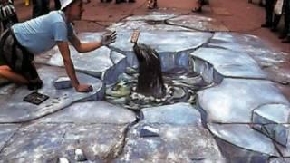 3D рисунки на асфальте от www.prikle.ru(Самый знаменитый из художников объёмных картин на асфальте, пожалуй, англичанин Julian Beever -- его уже прозвали..., 2010-07-21T08:14:56.000Z)