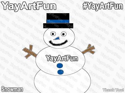 Blue Snowman coloring/doodle/speedart