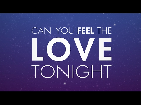 Can You Feel The Love Tonight (Official Lyric Video)